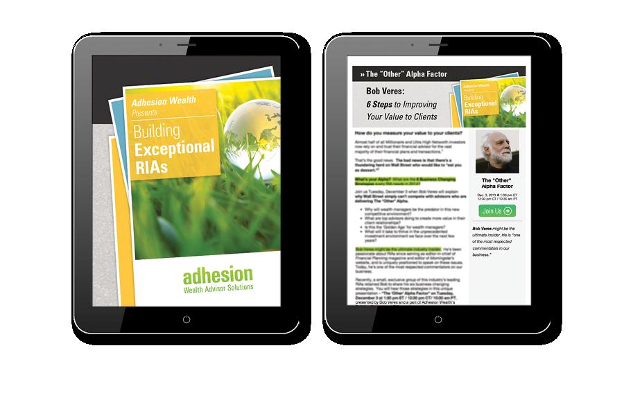 Adhesion Thought Leadership Webinars